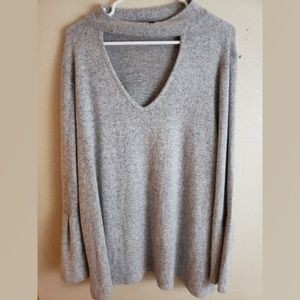 Lane Bryant Bell Sleeves Knit Pullover Cardigan